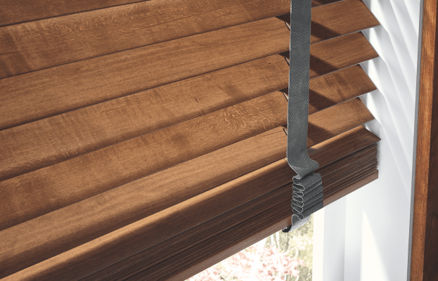 Close look of the Wood Blinds