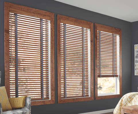 Master Bedroom Traditional Wood Blinds